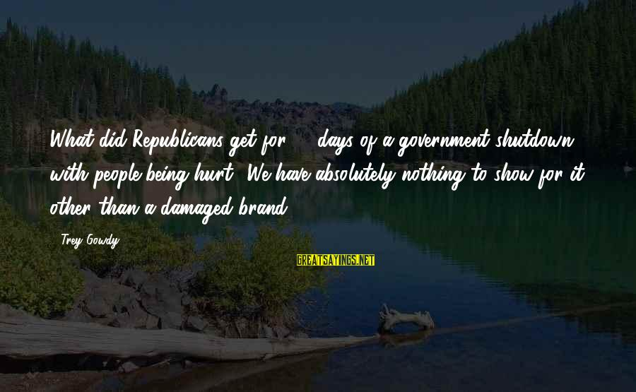 Shutdown Sayings By Trey Gowdy: What did Republicans get for 16 days of a government shutdown with people being hurt?