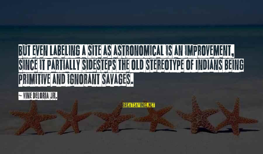 Sidesteps Sayings By Vine Deloria Jr.: But even labeling a site as astronomical is an improvement, since it partially sidesteps the