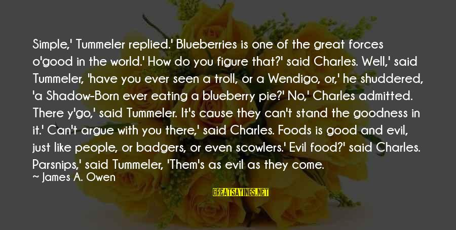 Sistar Hyorin Sayings By James A. Owen: Simple,' Tummeler replied.' Blueberries is one of the great forces o'good in the world.' How