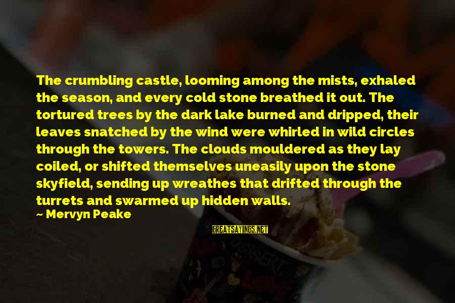 Skyfield Sayings By Mervyn Peake: The crumbling castle, looming among the mists, exhaled the season, and every cold stone breathed