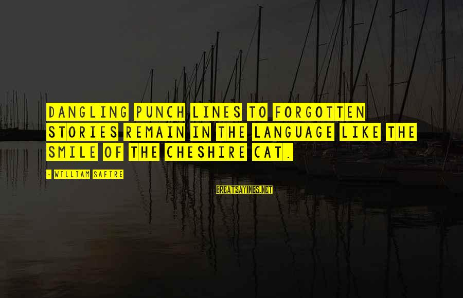 Smile Like A Cat Sayings By William Safire: Dangling punch lines to forgotten stories remain in the language like the smile of the