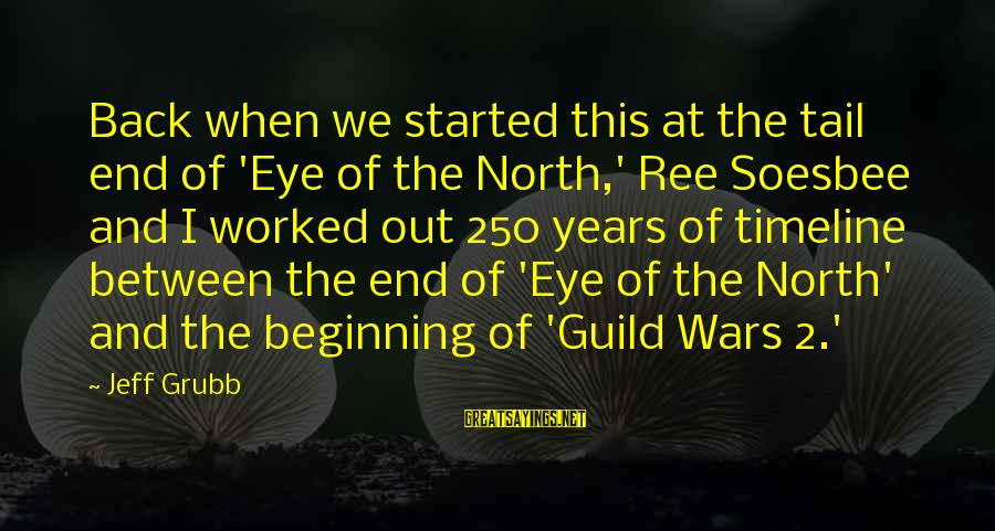 Soesbee Sayings By Jeff Grubb: Back when we started this at the tail end of 'Eye of the North,' Ree