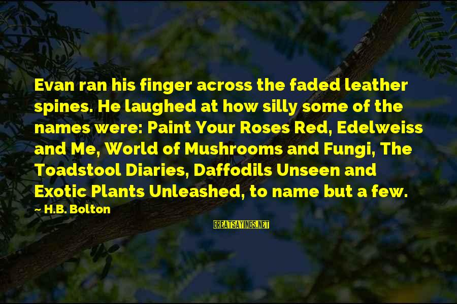 Some Silly Sayings By H.B. Bolton: Evan ran his finger across the faded leather spines. He laughed at how silly some