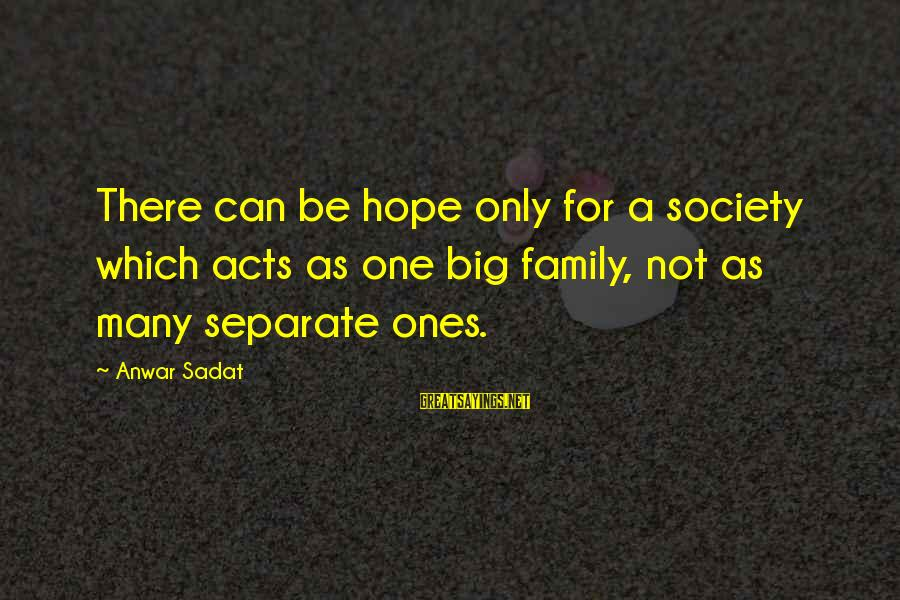 Sonic Colors Eggman Sayings By Anwar Sadat: There can be hope only for a society which acts as one big family, not