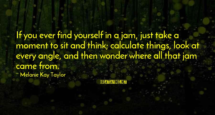 Soul Plane Heather Sayings By Melanie Kay Taylor: If you ever find yourself in a jam, just take a moment to sit and