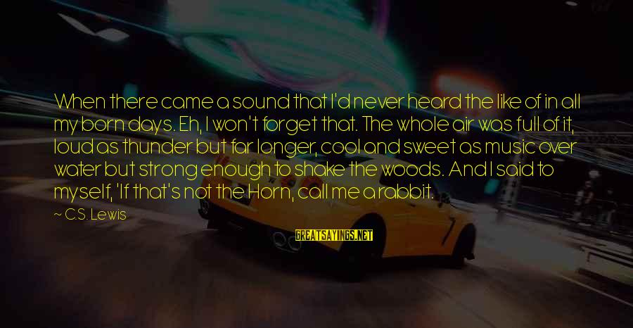 Sound Of Thunder Sayings By C.S. Lewis: When there came a sound that I'd never heard the like of in all my
