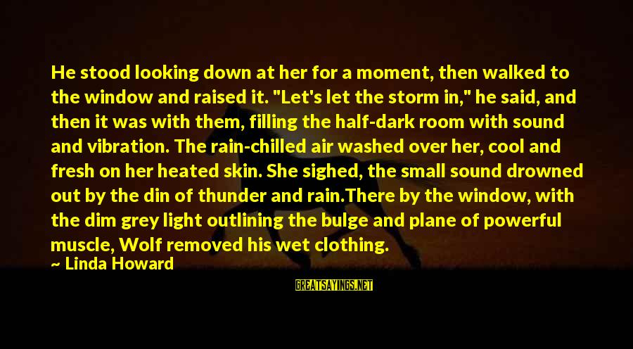 Sound Of Thunder Sayings By Linda Howard: He stood looking down at her for a moment, then walked to the window and
