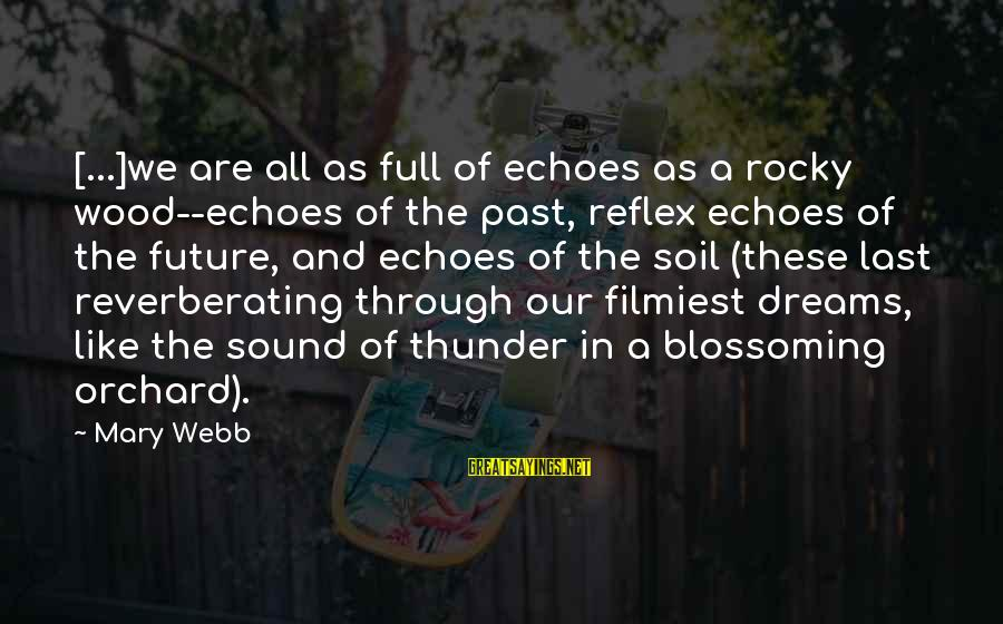 Sound Of Thunder Sayings By Mary Webb: [...]we are all as full of echoes as a rocky wood--echoes of the past, reflex