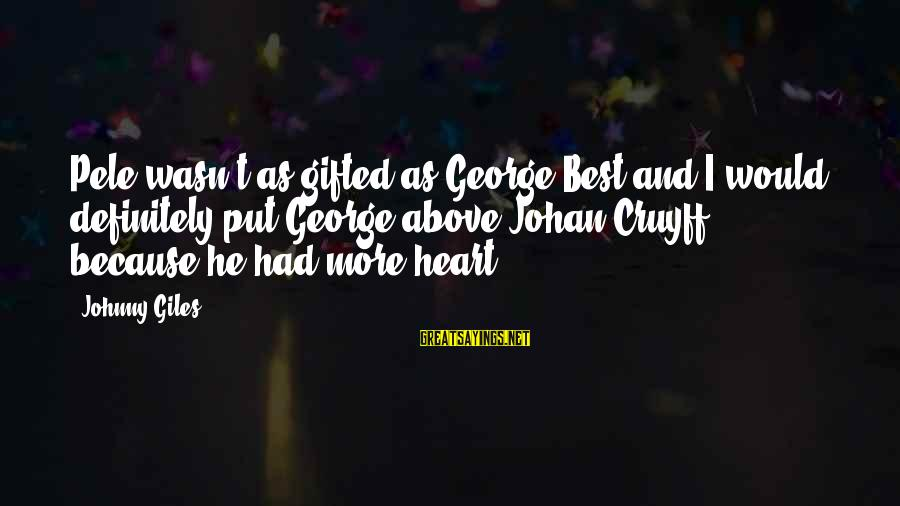 Sqlcmd Using Sayings By Johnny Giles: Pele wasn't as gifted as George Best and I would definitely put George above Johan