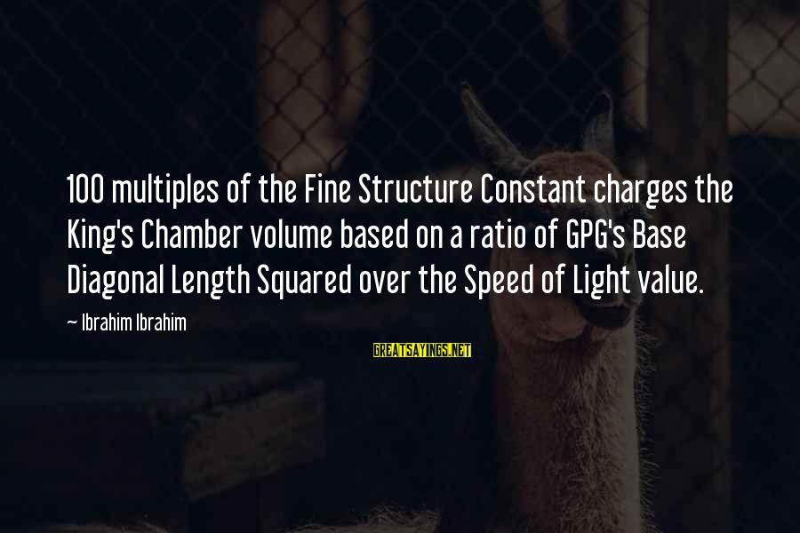 Squared Sayings By Ibrahim Ibrahim: 100 multiples of the Fine Structure Constant charges the King's Chamber volume based on a