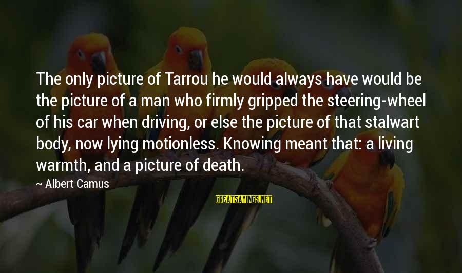 Steering Life Sayings By Albert Camus: The only picture of Tarrou he would always have would be the picture of a