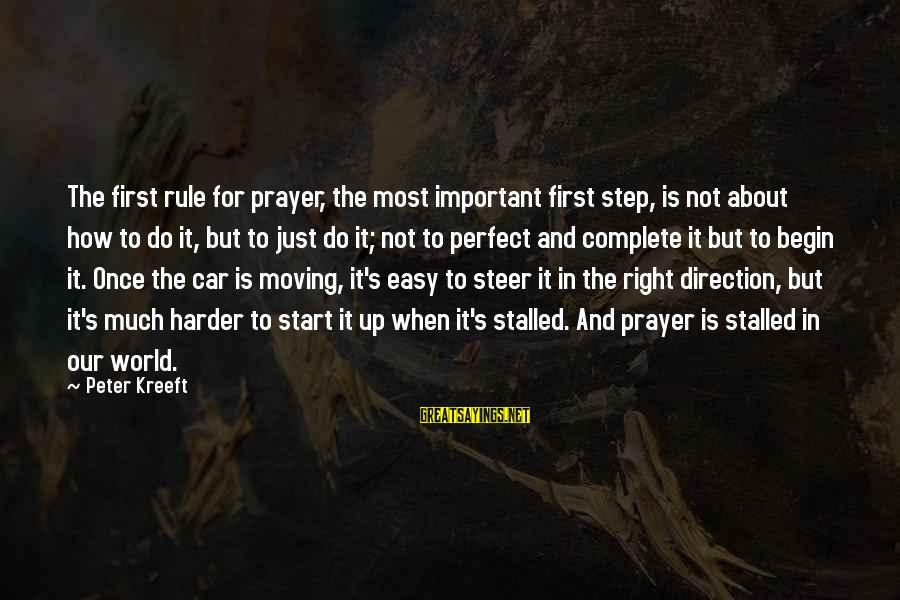 Step Right Up Sayings By Peter Kreeft: The first rule for prayer, the most important first step, is not about how to