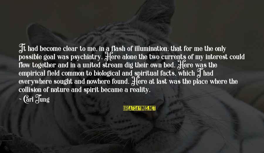 Stream Flow Sayings By Carl Jung: It had become clear to me, in a flash of illumination, that for me the