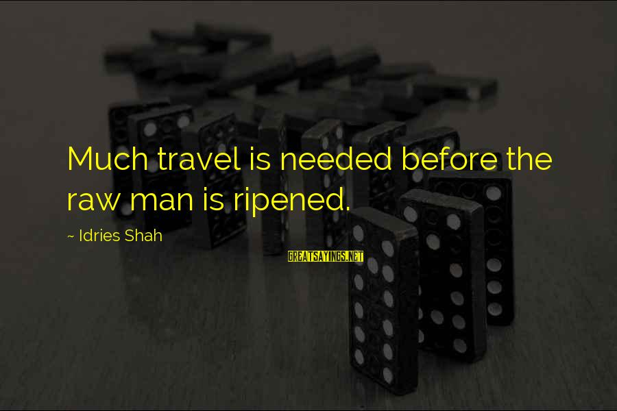 Sufi Sayings By Idries Shah: Much travel is needed before the raw man is ripened.