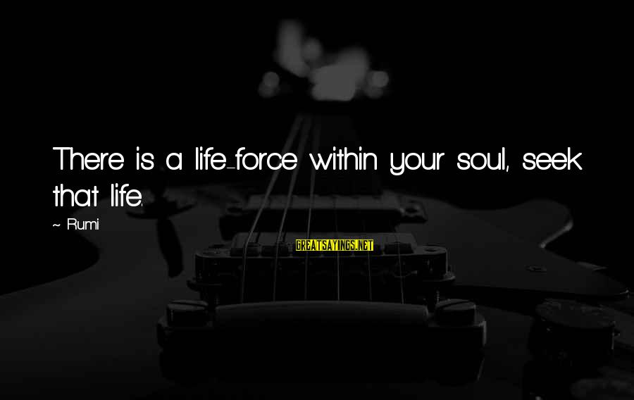 Sufi Sayings By Rumi: There is a life-force within your soul, seek that life.