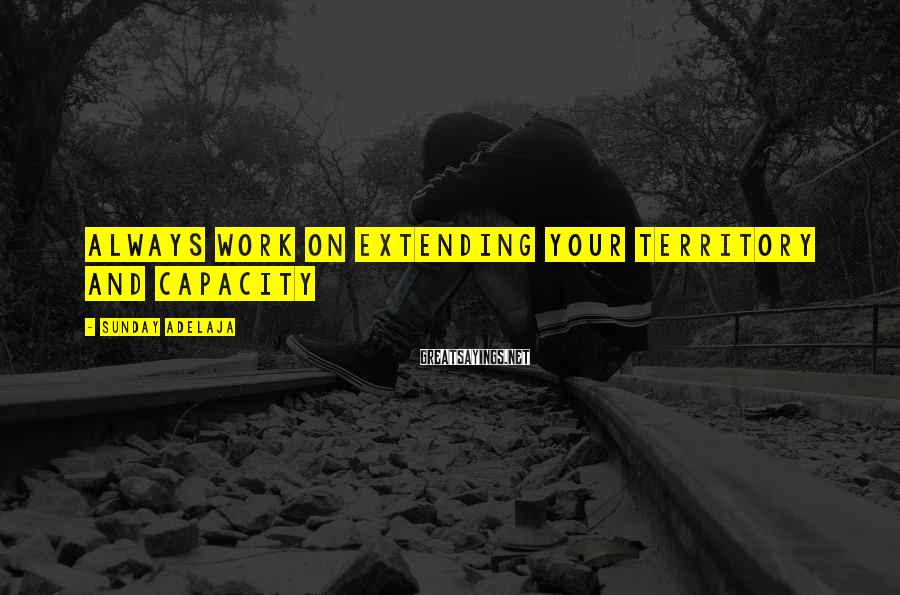 Sunday Adelaja Sayings: Always work on extending your territory and capacity