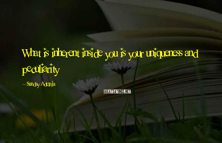 Sunday Adelaja Sayings: What is inherent inside you is your uniqueness and peculiarity
