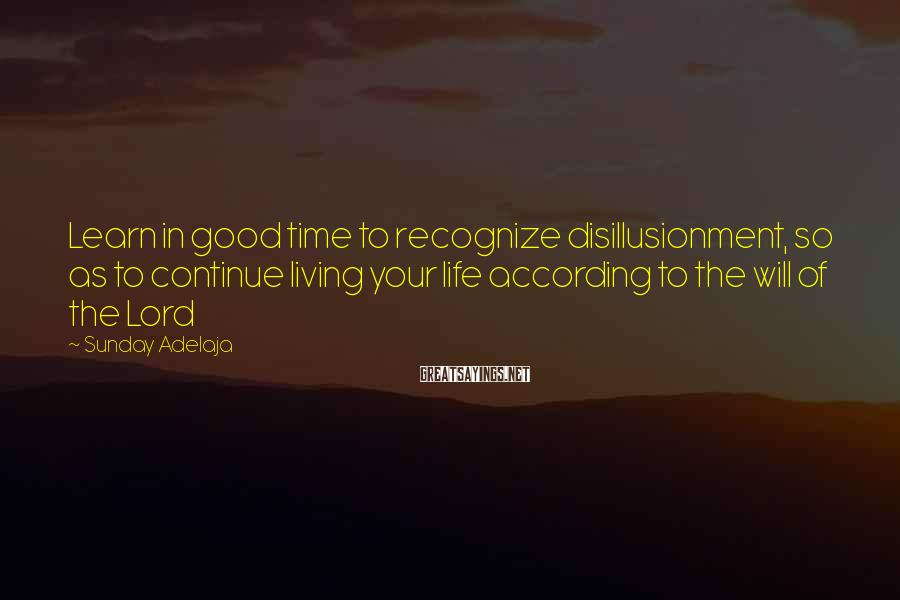 Sunday Adelaja Sayings: Learn in good time to recognize disillusionment, so as to continue living your life according