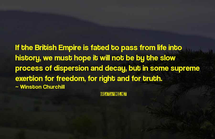 Supercortemaggiore Sayings By Winston Churchill: If the British Empire is fated to pass from life into history, we must hope