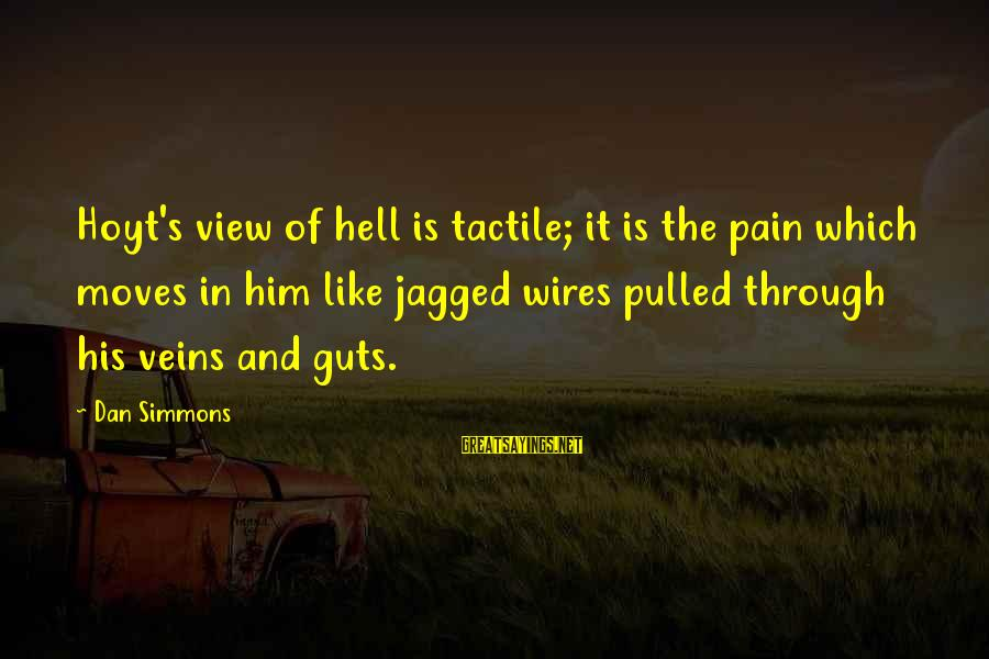 Tactile Sayings By Dan Simmons: Hoyt's view of hell is tactile; it is the pain which moves in him like