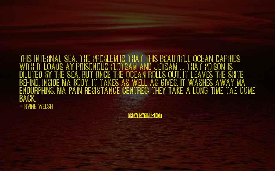 Take That Back Sayings By Irvine Welsh: This internal sea. The problem is that this beautiful ocean carries with it loads ay