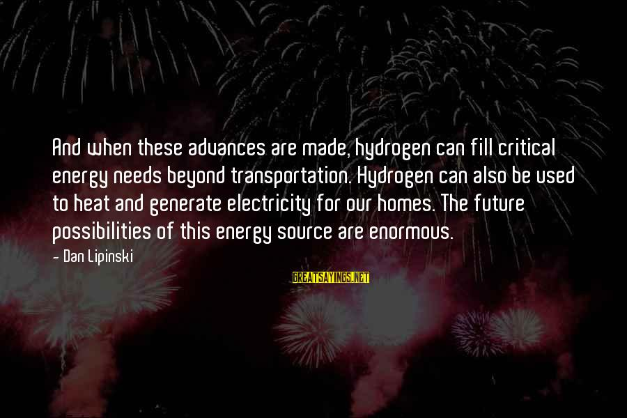 Tapestry Pillows With Sayings By Dan Lipinski: And when these advances are made, hydrogen can fill critical energy needs beyond transportation. Hydrogen