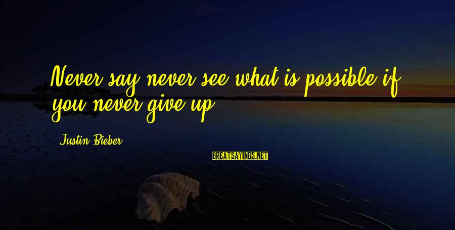 Texas Bluebonnet Sayings By Justin Bieber: Never say never see what is possible if you never give up