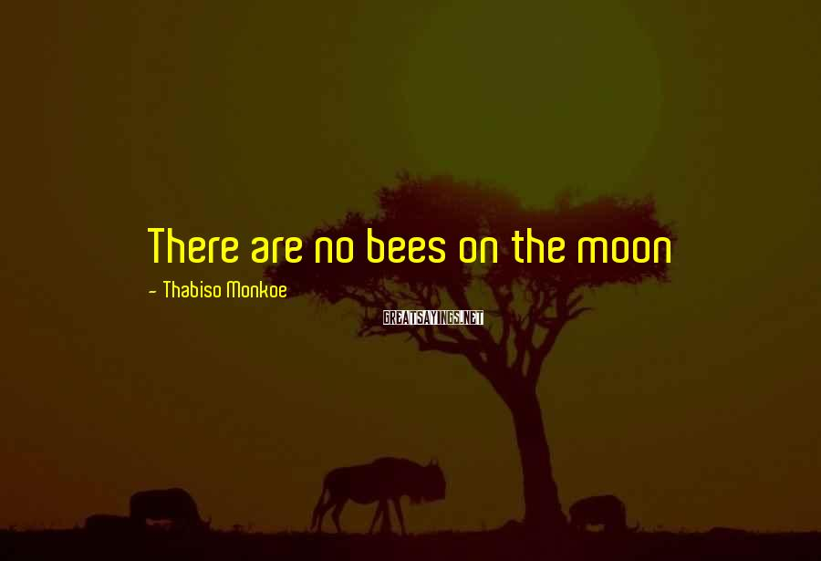 Thabiso Monkoe Sayings: There are no bees on the moon