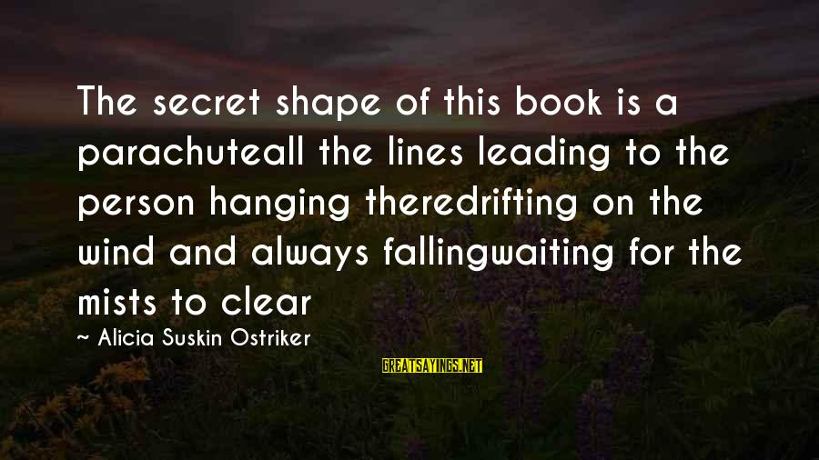 The Book The Secret Sayings By Alicia Suskin Ostriker: The secret shape of this book is a parachuteall the lines leading to the person