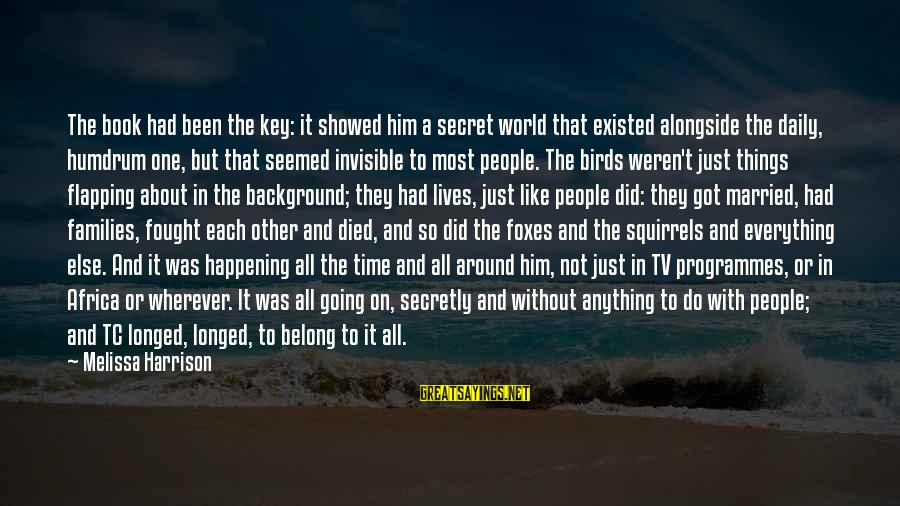 The Book The Secret Sayings By Melissa Harrison: The book had been the key: it showed him a secret world that existed alongside