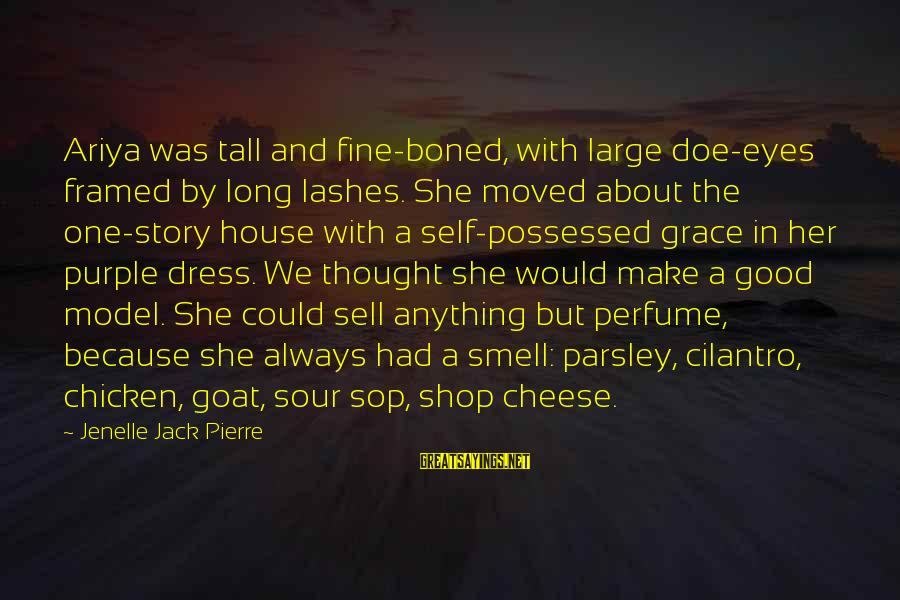 The Dress Sayings By Jenelle Jack Pierre: Ariya was tall and fine-boned, with large doe-eyes framed by long lashes. She moved about