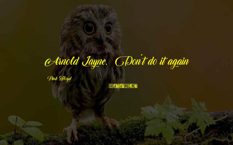 The Final Curtain Sayings By Pink Floyd: Arnold Layne, Don't do it again!