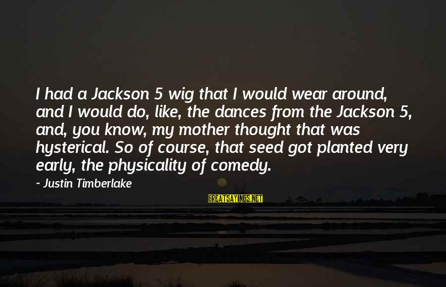 The Jackson 5 Sayings By Justin Timberlake: I had a Jackson 5 wig that I would wear around, and I would do,