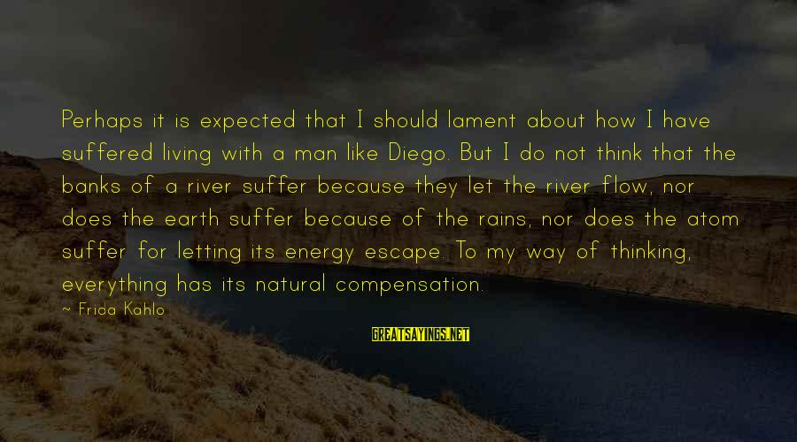 The Natural Man Sayings By Frida Kahlo: Perhaps it is expected that I should lament about how I have suffered living with