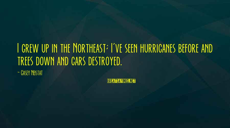 The Northeast Sayings By Casey Neistat: I grew up in the Northeast; I've seen hurricanes before and trees down and cars