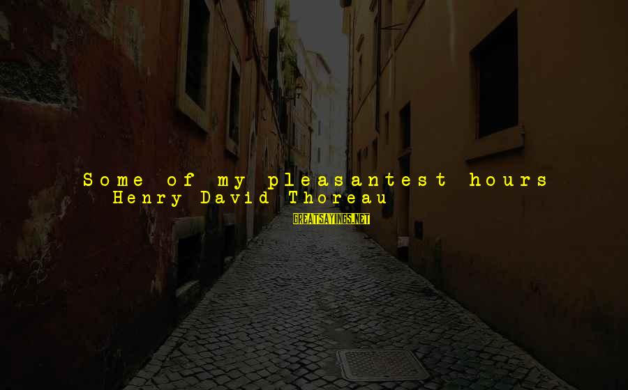 The Northeast Sayings By Henry David Thoreau: Some of my pleasantest hours were during the long rain-storms in the spring or fall,