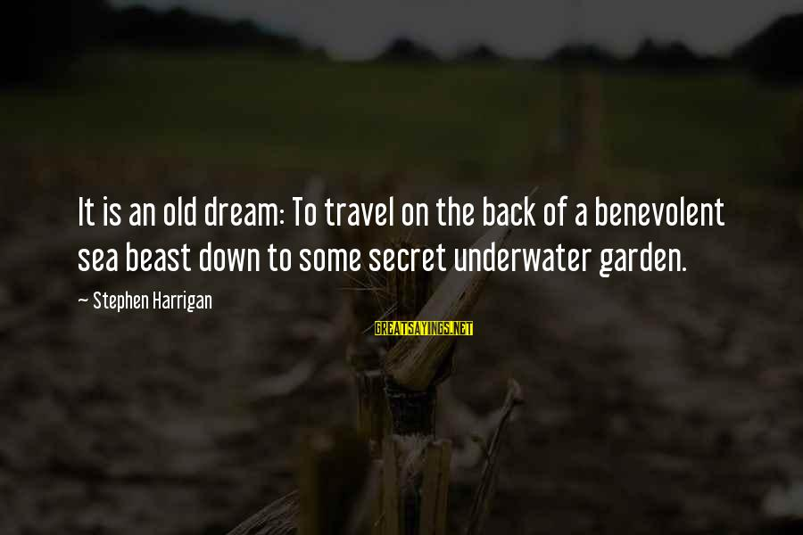 The Secret Garden Sayings By Stephen Harrigan: It is an old dream: To travel on the back of a benevolent sea beast