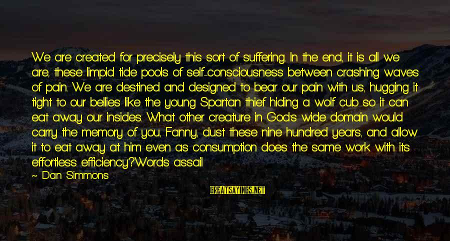 The Young Wolf Sayings By Dan Simmons: We are created for precisely this sort of suffering. In the end, it is all