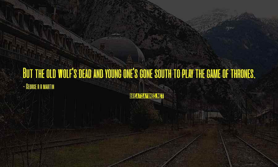 The Young Wolf Sayings By George R R Martin: But the old wolf's dead and young one's gone south to play the game of