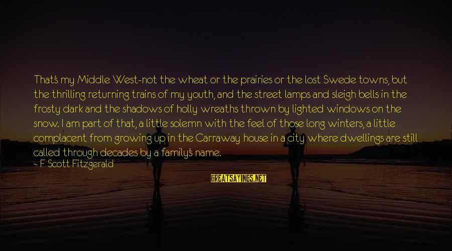 Through The Decades Sayings By F Scott Fitzgerald: That's my Middle West-not the wheat or the prairies or the lost Swede towns, but