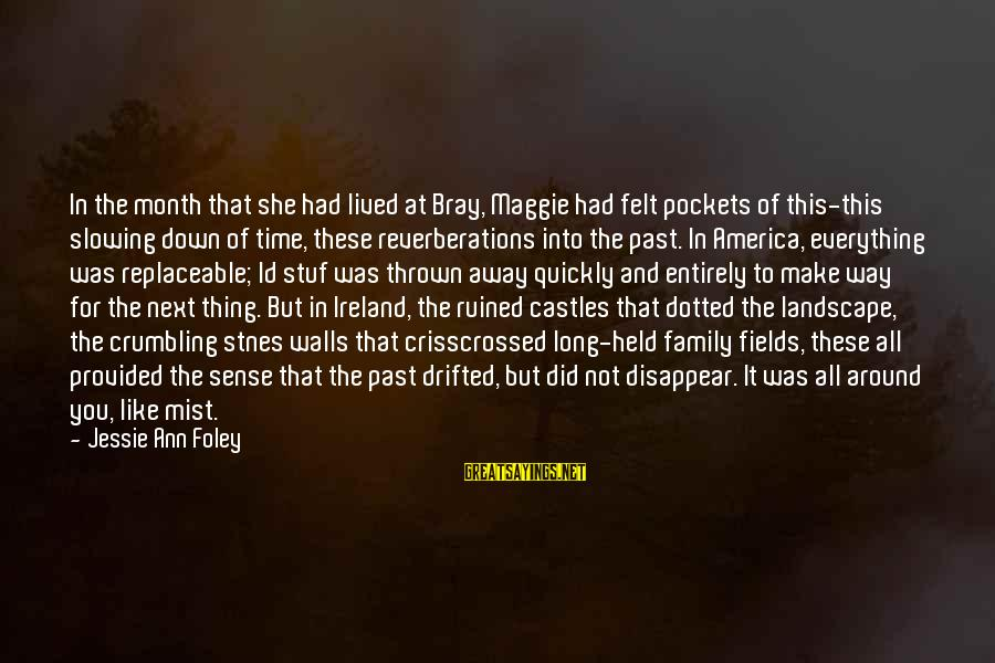 Thrown Around Sayings By Jessie Ann Foley: In the month that she had lived at Bray, Maggie had felt pockets of this-this