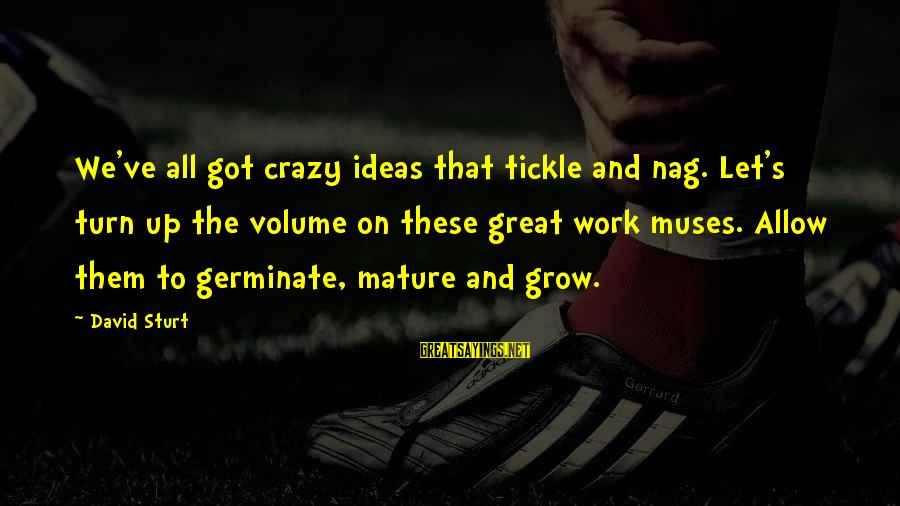 Tickle Sayings By David Sturt: We've all got crazy ideas that tickle and nag. Let's turn up the volume on