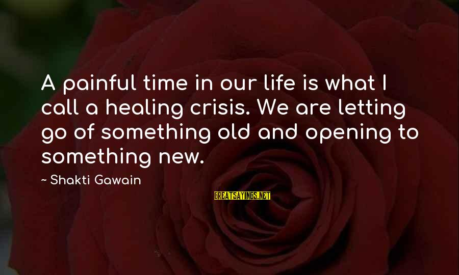 Time Healing Sayings By Shakti Gawain: A painful time in our life is what I call a healing crisis. We are