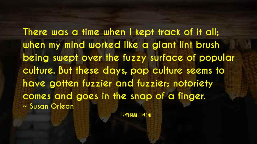 Time In Sayings By Susan Orlean: There was a time when I kept track of it all; when my mind worked