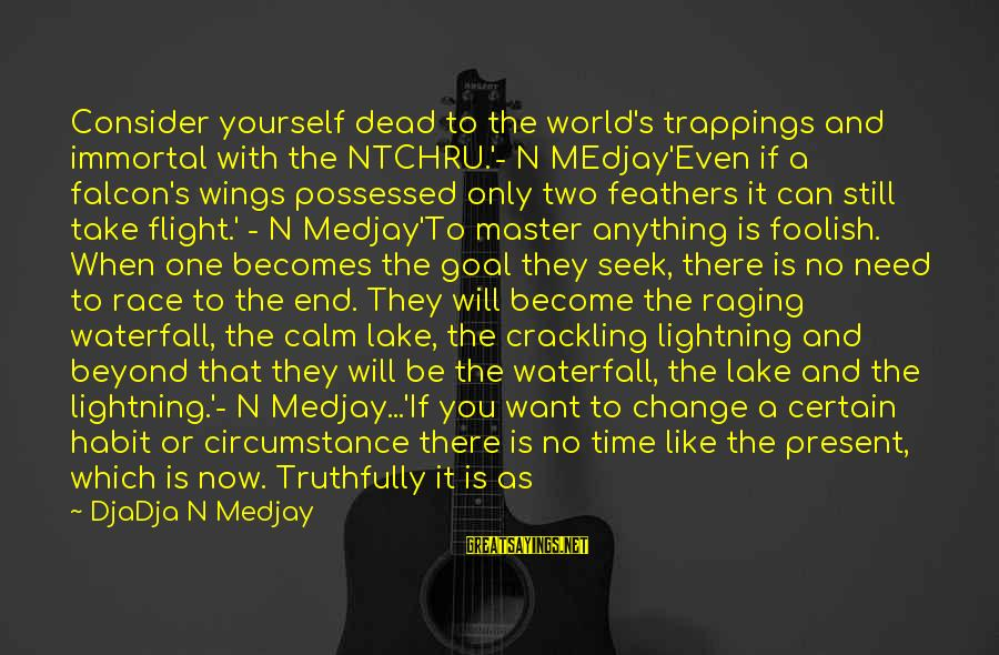 Time With Yourself Sayings By DjaDja N Medjay: Consider yourself dead to the world's trappings and immortal with the NTCHRU.'- N MEdjay'Even if