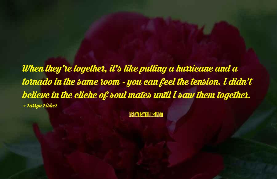 Tornado's Sayings By Tarryn Fisher: When they're together, it's like putting a hurricane and a tornado in the same room