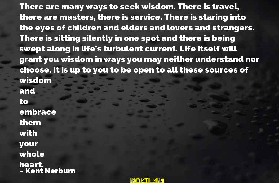 Travel Lovers Sayings By Kent Nerburn: There are many ways to seek wisdom. There is travel, there are masters, there is