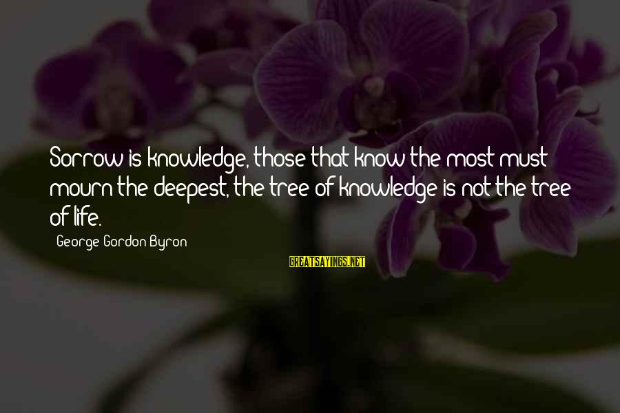 Tree Knowledge Sayings By George Gordon Byron: Sorrow is knowledge, those that know the most must mourn the deepest, the tree of