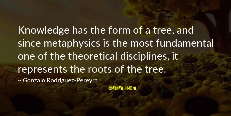 Tree Knowledge Sayings By Gonzalo Rodriguez-Pereyra: Knowledge has the form of a tree, and since metaphysics is the most fundamental one