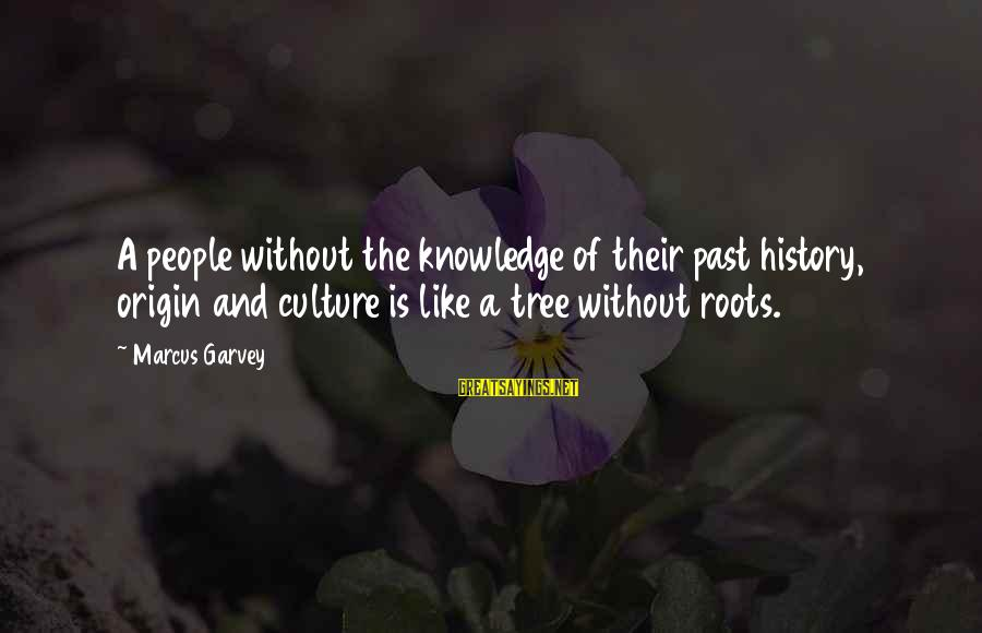 Tree Knowledge Sayings By Marcus Garvey: A people without the knowledge of their past history, origin and culture is like a
